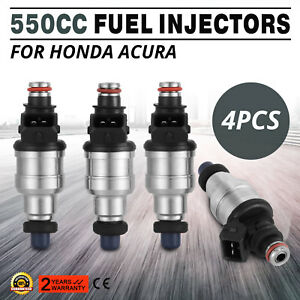 Top 550cc Fuel Injectors For Honda B16 B18 B20 D16 D18 F22 H22 H22a Vtec Made