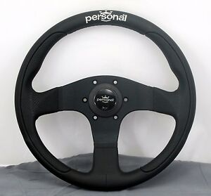 Personal Steering Wheel Pole Position 330mm Black Leather And Perforated Leather