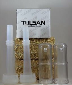 2 Goat Silicone Liners inflations With 2 Shells For Milking Machine By Tulsan