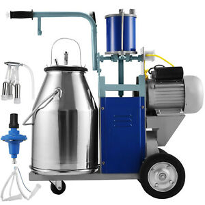 25l Electric Milking Machine For Goats Cows W bucket 550w 2 Plug 1440rpm 64l min