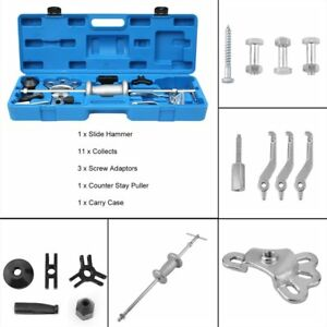 New 16pcs Slide Hammer Oil Seal Bearing Puller Set Auto Mechanic Tools Sk