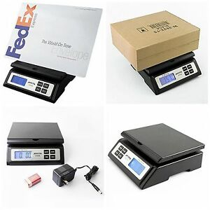 Accuteck Digital Postal Scale Heavy Duty Shipping Scale Table Top Large Black