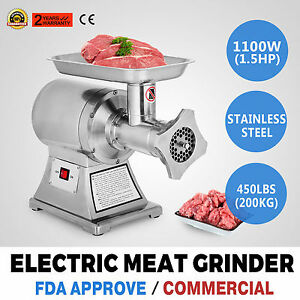 1 5hp Commercial Meat Grinder Sausage Stuffer 2 Knives Electric Maker Filler