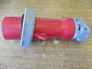New Hubbell Watertight Pin And Sleeve Plug 32a 380 415vac 432p6w