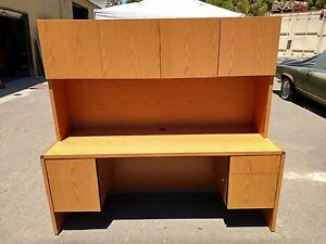 Desk Credenza With Hutch 24 x72 Lock Keys Clean We Deliver Locally Nor Ca