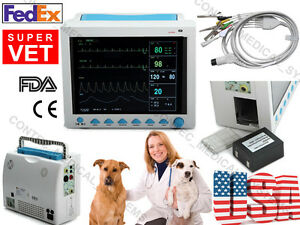 Usa fda ce 12 1 Inch Veterinary Patient Monitor vital Signs 6 parameter Vet Icu