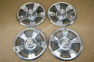 Original 1966 Chevrolet Corvette Set Of 4 Hubcaps W Nader Center Caps 66