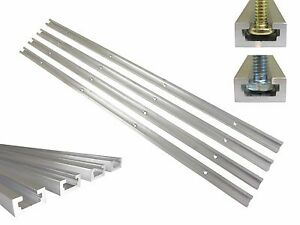 Lot 4 T Track 24 Aluminum 3 4 X 3 8 For 1 4 5 16 T Bolts 1 4 Hex Bolts