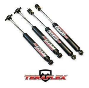 Teraflex 3 4 9550 Vss Front Rear Shock Absorber Kit For 07 18 Jeep Wrangler Jk