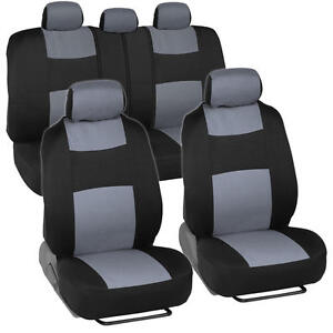 Car Seat Covers For Honda Civic Sedan Coupe Grey Black Split Bench