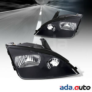 2005 2006 2007 Ford Focus Black Factory Style Replacement Headlights Pair