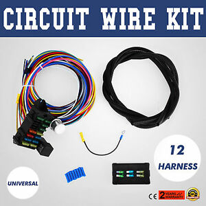 Universal 12 Circuit Wire Harness Muscle Wiring Harness Complete Circuits