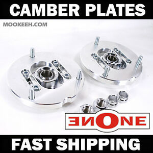 Mk1 Pillowball Front Camber Plates Strut Mount Bmw E34 For Coilover Kits