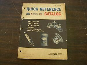 Original 1965 Ford Dealer Quick Reference Parts Book Fairlane Galaxie Mustang