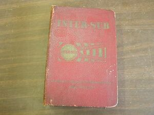 Universal Inter Sub Master Parts Book 1939 1951 Ford Chevrolet Dodge Chrysler