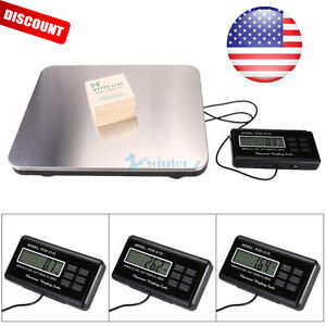 660lbs Lcd Ac Digital Floor 300kg Weigh Bench Scale Postal Platform Shipping