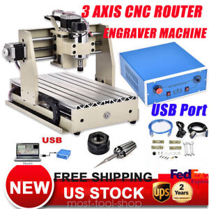Usb 3 Axis Cnc Router 3020 Engraver Machine Engraving Drilling Milling 3d Cutter