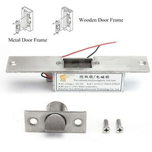 12v 110 250ma Fail Safe Nc Cathode Electric Strike Lock For Access Control Door