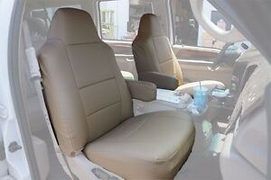 Ford Excursion 2000 2005 Beige S Leather Custom Made Fit Front Seat Cover
