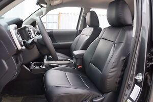 Toyota Tacoma 2016 2019 Black S leather Custom Made Fit Front Seat Cover