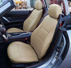 Bmw Z4 2003 2008 Beige Iggee S leather Custom Fit Front Seat Covers