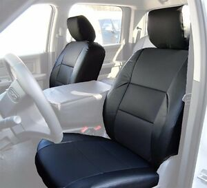 Dodge Ram 2009 2016 Black S leather Custom Made Fit Front Seat Cover