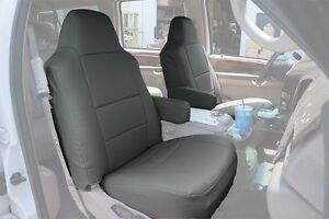 Ford F 250 350 2004 2010 Charcoal S leather Custom Made Fit Front Seat Cover