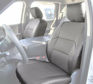 Dodge Ram 2009 2016 Grey S Leather Custom Made Fit Front Seat Cover
