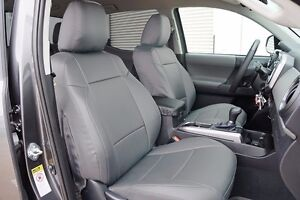 Toyota Tacoma 2016 2021 Grey S leather Custom Made Fit 2 Front Seat Covers