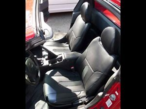 Honda Del Sol 1993 1997 Black Charcoal S Leather Custom Fit Front Seat Covers