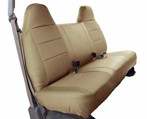 Ford F 250 350 Beige Iggee S Leather Custom Fit Bench Front Seat Cover