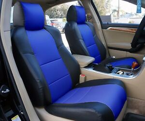 Acura Tl 2004 2008 Black Blue S Leather Custom Fit Front Seat Cover