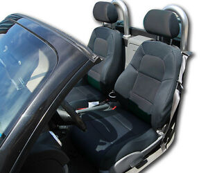 Audi Tt Black Iggee S leather Custom Fit Front Seat Cover