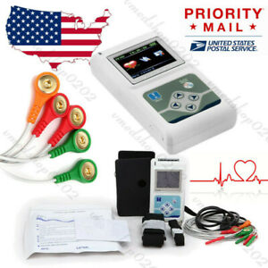 2020 New 3 channel 24h Ecg ekg Monitor Holter System Analyzer Software Recorder