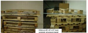 100 Knock Off Euro Wood Pallet located In Michigan