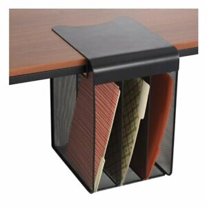 Safco Onyx Solid Top Vertical Hanging Desk Organizer In Black