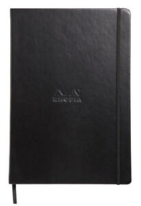 Rhodia Boutique Webnotebook Bound 5 X 8 Lined Black 96 Sheets 118609