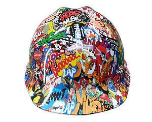 Sticker Bomb Msa V guard Cap Hard Hat