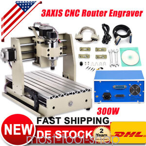 3axis 3020t Cnc Router 300w Engraver Machine Engraving Wood metal 3d Cut Carving