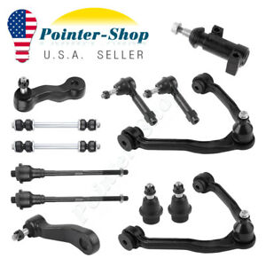 13pc Complete Front Suspension Kit For Chevy Tahoe Gmc Sierra 1500 4x4 6 lug