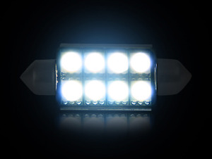 Recon 264222wh Single 578 364 10mm X 42mm 8 Smd Festoon Style Led Bulb