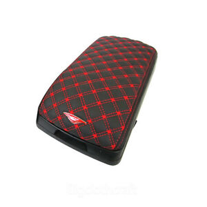 New Universal Fit Car Center Armrest Console Leatherette Storage Box Red