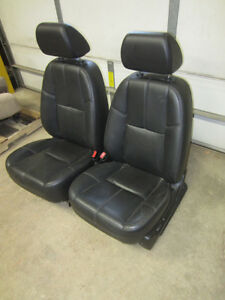 07 13 Chevy Suburban gmc Yukon Xl Oe Black ebony Leather Front Bucket Seats
