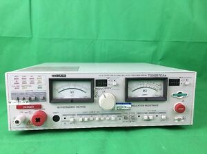 Kikusui Tos8870as Withstanding Voltage Insulation Resistance Tester