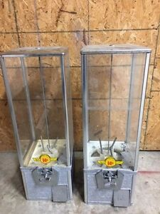 Pair Of 2 Northwestern Super 80 2 Capsule Toy Vending Machine 2 Inch Vendor A