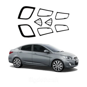 New Carbon Interior Molding Set Trim K229 For Hyundai Accent 4 5door 2012 2013