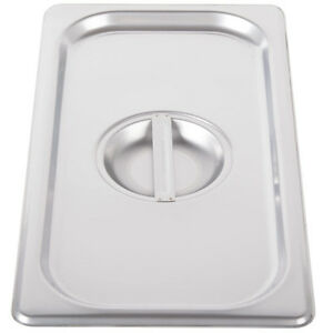 6 pack 1 3 Size Solid Stainless Steel Steam Table Hotel Pan Lid Covers 4070130