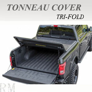Lock Tri Fold Soft Tonneau Cover Fit 2004 2006 Chevy Silverado 5 8feet Short Bed