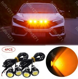 4pc Ford Svt Raptor Style Led Amber Grille Lighting Kit Universal Fit Truck Suv