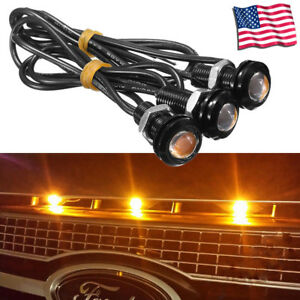 3pc Ford Svt Raptor Style Led Amber Grille Lighting Kit Universal Fit Truck Suv
